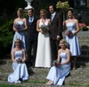 Bespoke bridal gown and bridesmaids dresses, Sep 2007