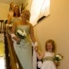 Bespoke satin bridesmaids dresses, Jul 2009