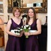 Aubergine taffeta bridesmaids dresses, Dec 2009