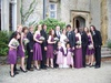Bespoke bridal gown and six adult bridesmaids, Oct 2010