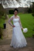 Bespoke lace and satin wedding dress, Mar 2012